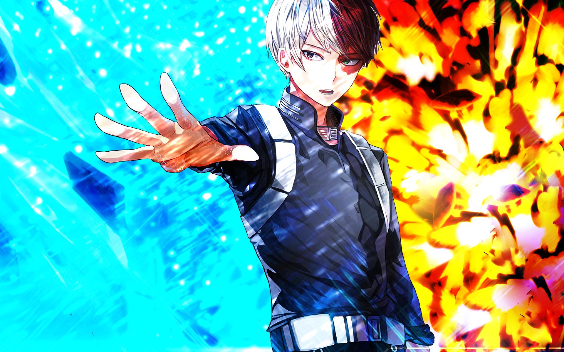 My hero academia, ochako uraraka, shouto todoroki,. My Hero Academia HD Wallpaper   Background Image   1920x1200