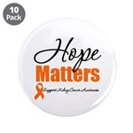 "Kidney Cancer Hope 3.5"" Button (10 pack)"