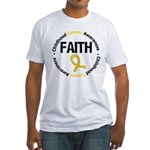 ChildhoodCancerFaith Fitted T-Shirt