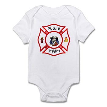 Future Firefighter Red Infant Bodysuit