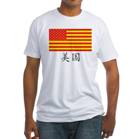 China / American relationship political t-shirt
