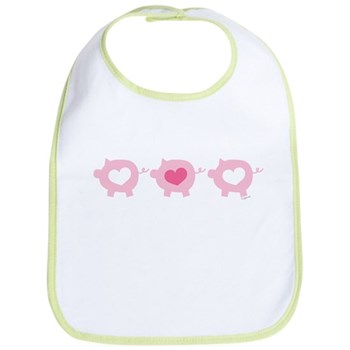 Pigs and Hearts Bib
