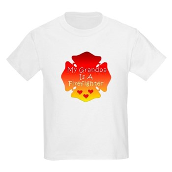 My Grandpa Is A Firefighter Kids Light T-Shirt