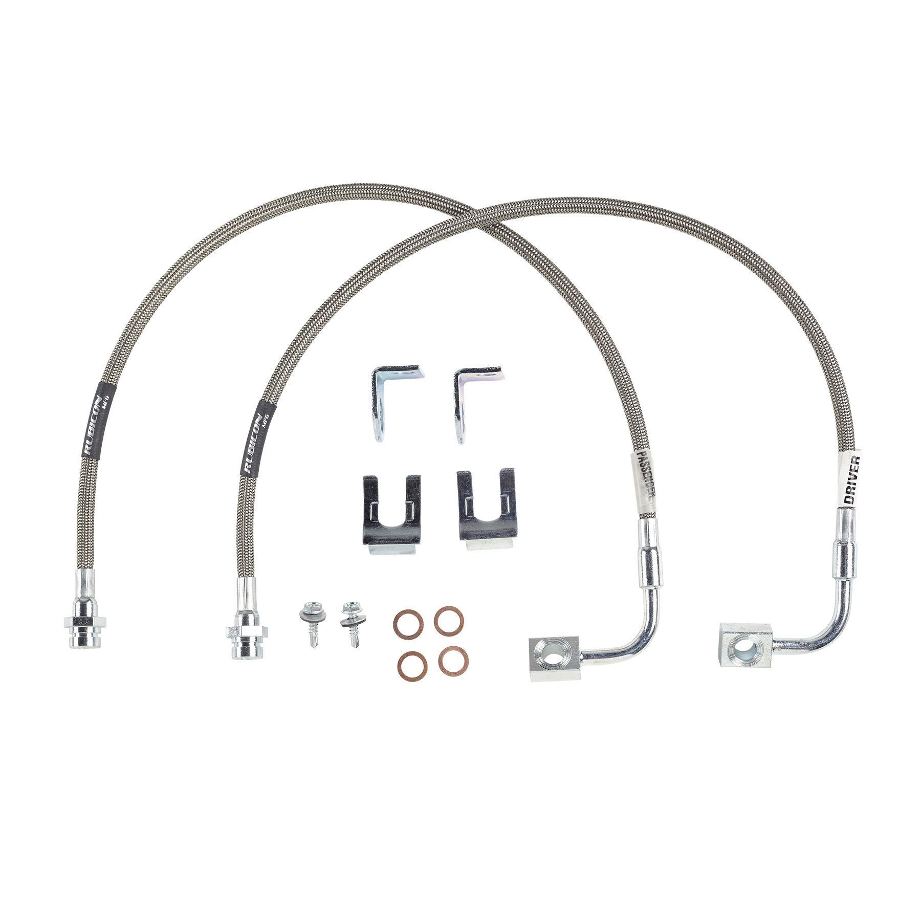 Rubicon Express Jeep Wrangler Jk Front Brake Line W Inst