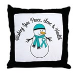 Christmas Snowman PCOS Throw Pillow