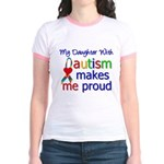 Autism Proud Ribbon Jr. Ringer T-Shirt