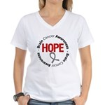 BrainCancerHope Women's V-Neck T-Shirt