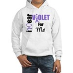 I Wear Violet Ribbon For Me Hooded Sweatshirt