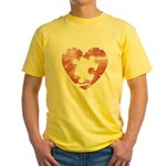 PIECE OF MY HEART Yellow T-Shirt