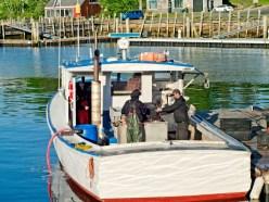 Loading Bait Into Fishing Boat Rockport Harbor