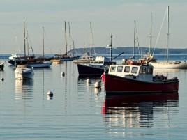 Red Fishing Boat Rockport Harbor