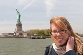 Sandra @ Statue of Liberty