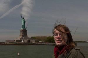 Sonja @ Statue of Liberty