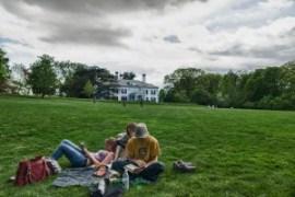 reading, picnic, Arboretum Frelinhuysen