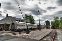 Whippany Railroad Museum, carts, clouds