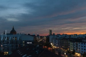Mannheim Watertower at sunset