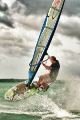 windsurf, bonaire, andy brandt, freestyle, hdr
