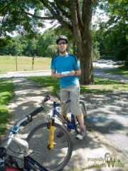Bicycling in Kittatinny Valley State Park