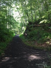 Bicycling a rail trail in Kittatinny Valley State Park