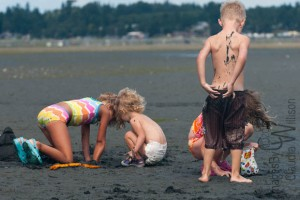 children, beach, willison, family