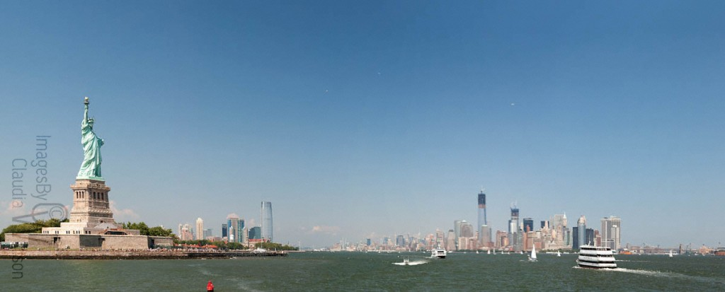 Statue of Liberty, panorama, NYC