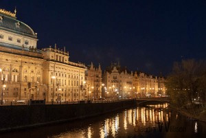 prague, old town, night