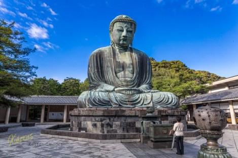 What an impressive Buddha statue this is. Kamakura, Japan.