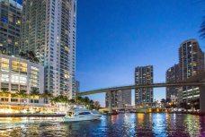 Miami River Night view