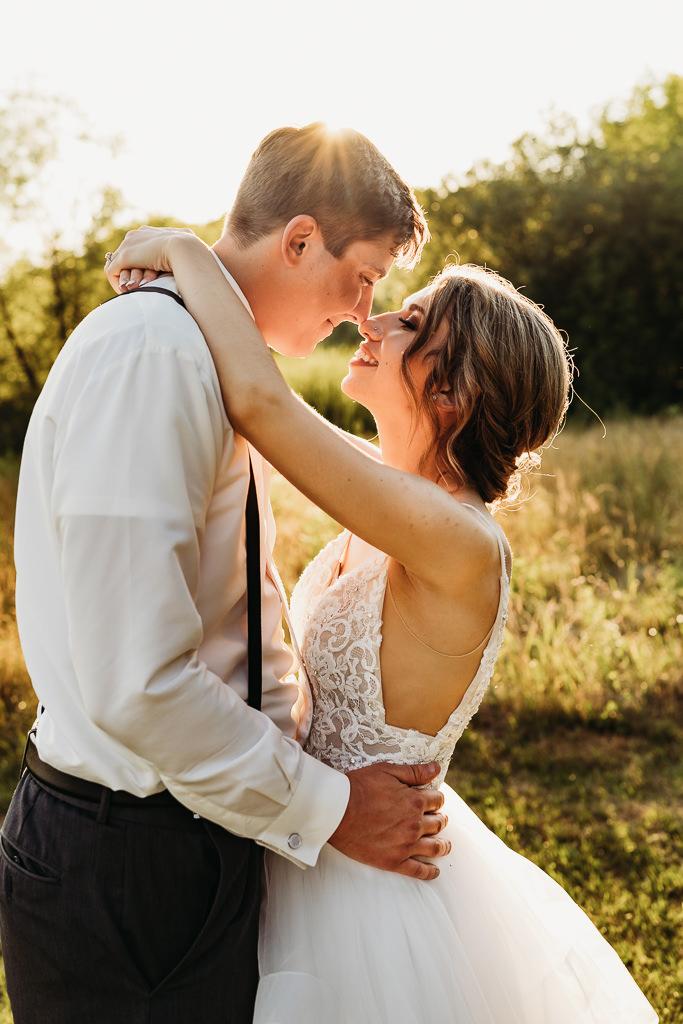 sunset wedding photography from Blackberry Ridge Golf Course wedding