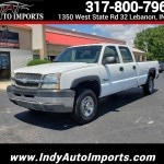 Used 2004 Chevrolet Silverado 2500hd Work Truck Crew Cab Long Bed 2wd For Sale In Lebanon In 46052 Indy Auto Imports