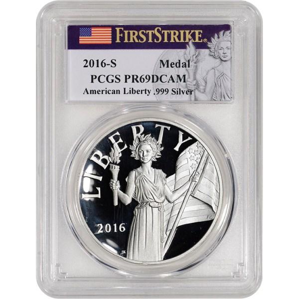 2016-S US American Liberty Silver Medal - PCGS PR69 DCAM ...