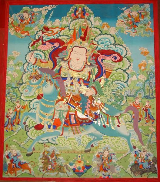 Amnye Machen Pomra, dieu-montagne © Himalayanart.com