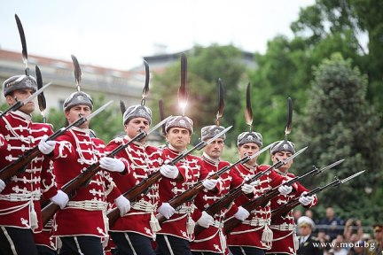 Парад гвардейците / National Guard parade photo credit: Ministry of Defence of Bulgaria