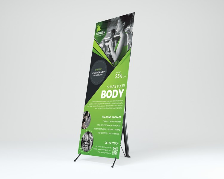 Fitness Center Professional Roll-Up Banner Template