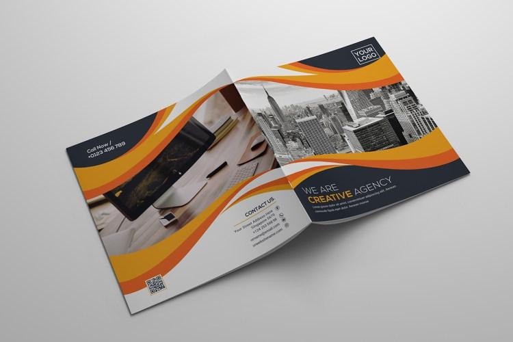 Square Bi Fold Creative Brochure Template