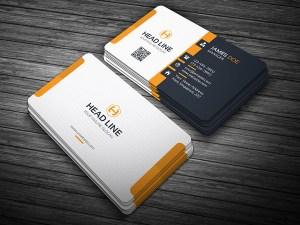 Stylish Orange Business Card Template