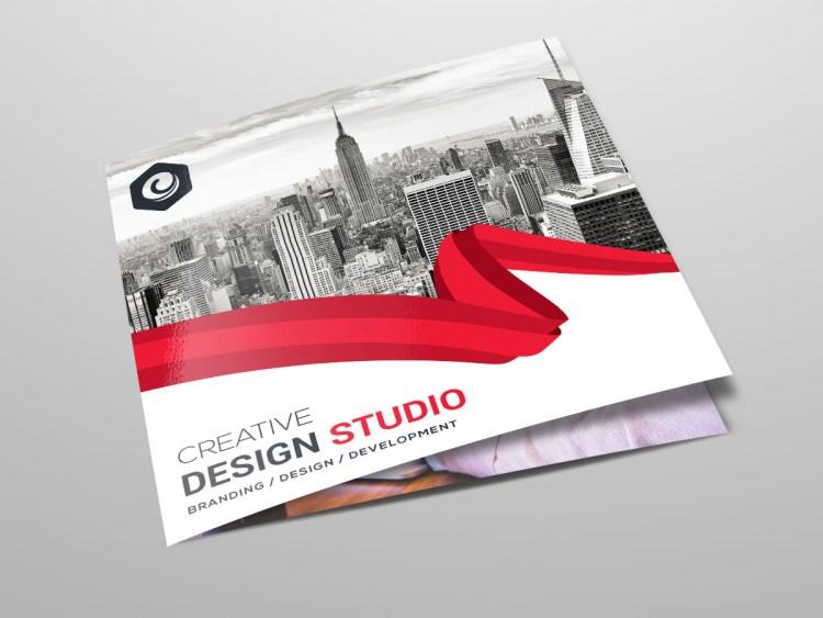 Tri Fold Stylish Business Brochure Template