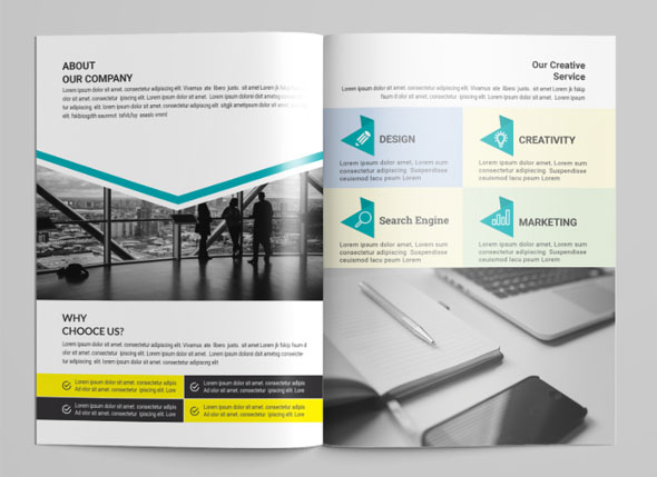 Minimal Bi-Fold Brochures Design