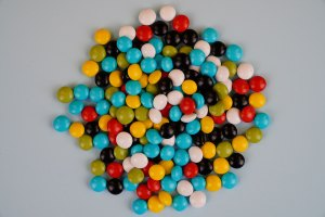 Colorful candy isolated stock photo