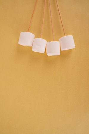 Fluffy sweet white marshmallows