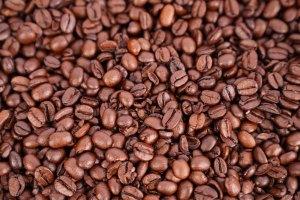 Macro photo of roasted coffee beans