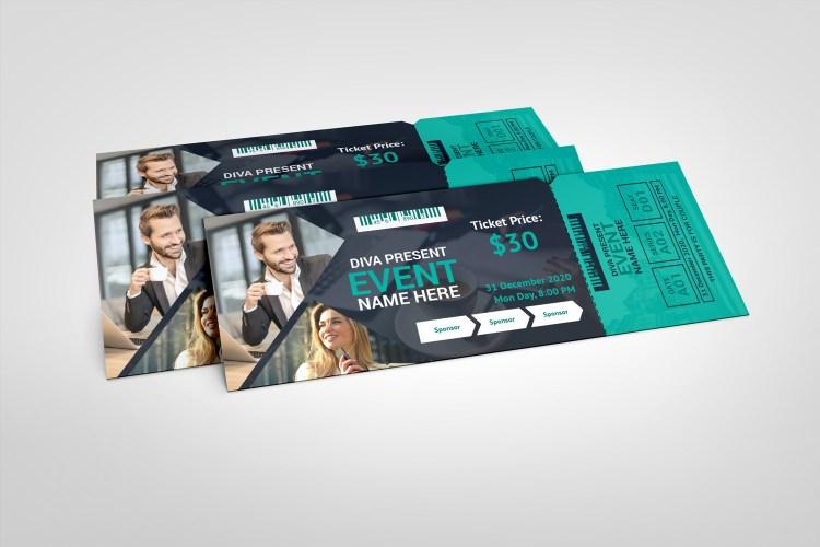 Modern Event Ticket