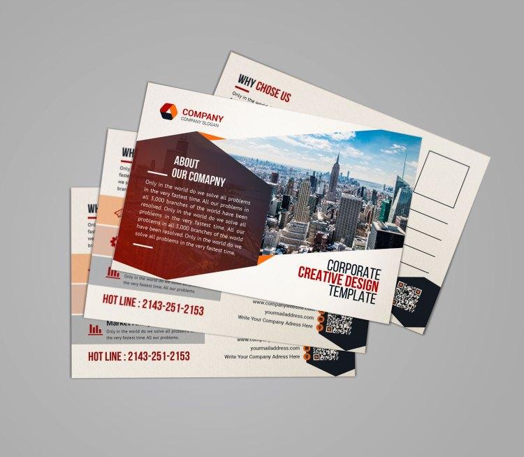 Print Corporate Postcard Template