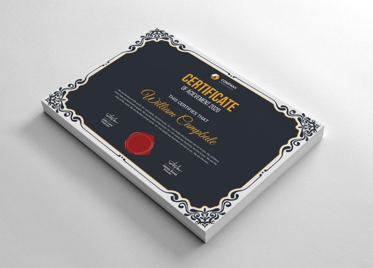 Traditional Certificate Template