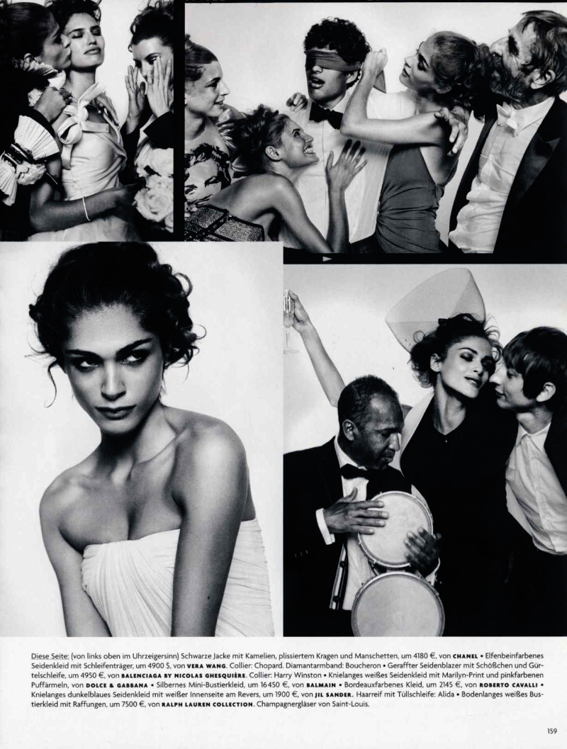 elisa006 Vogue Germany December 2009 | Elisa Sednaoui, Bianca Balti & Luca Gadjus by Vincent Peters