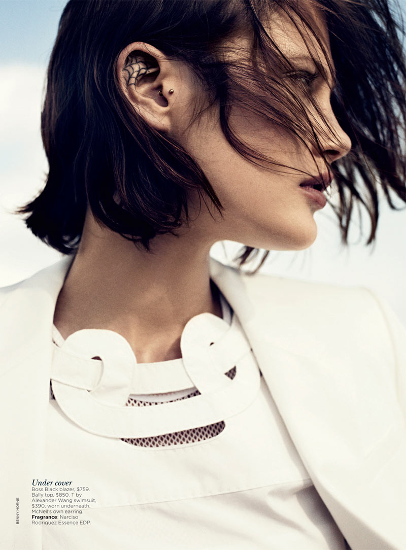 catherine mcneil4 Catherine McNeil Stays Cool for Vogue Australias November 2012 Cover Shoot by Benny Horne