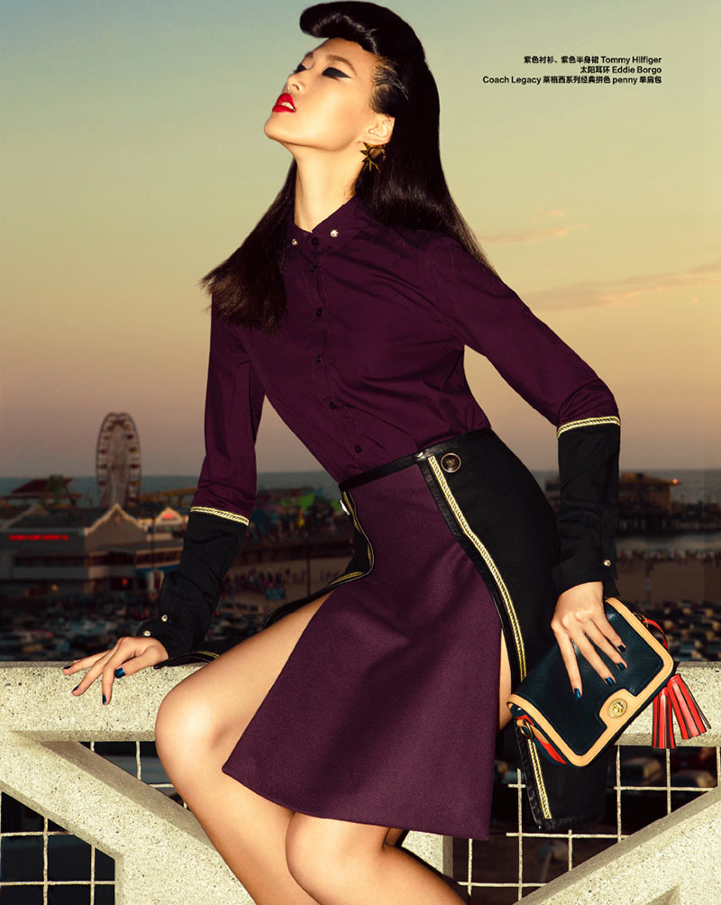 tian yi14 Tian Yi Goes Coast to Coast for the 26th Anniversary Issue of Harpers Bazaar China