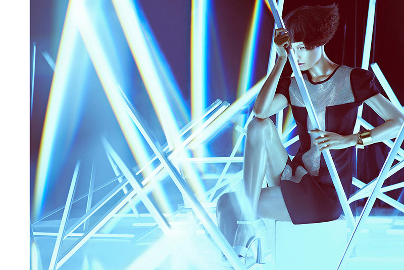 wang xiao4 Wang Xiao Lights Up for Harpers Bazaar China Art by Charles Guo
