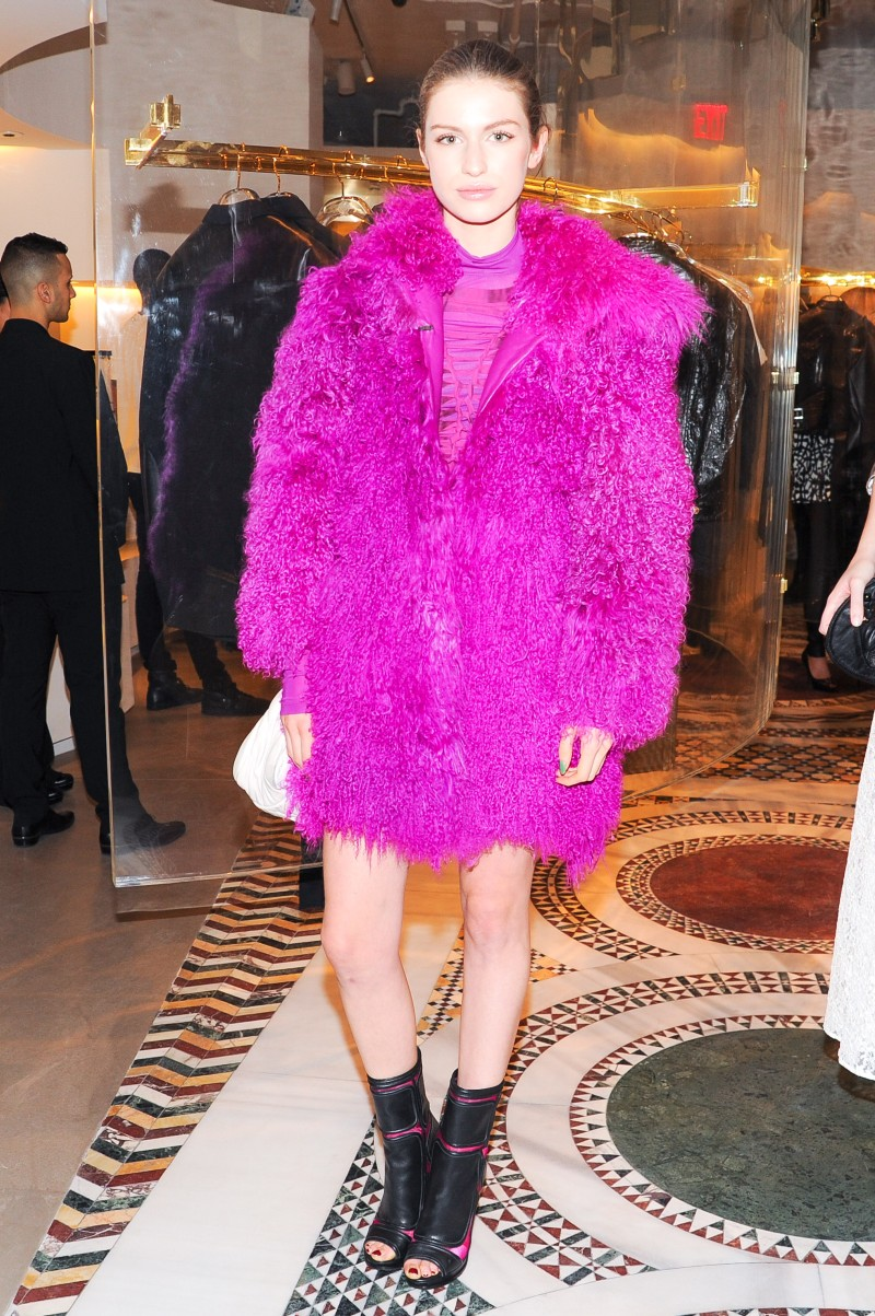versace12 Doutzen Kroes, Lady Gaga, Coco Rocha and Others Step Out for Versaces SoHo Store Opening
