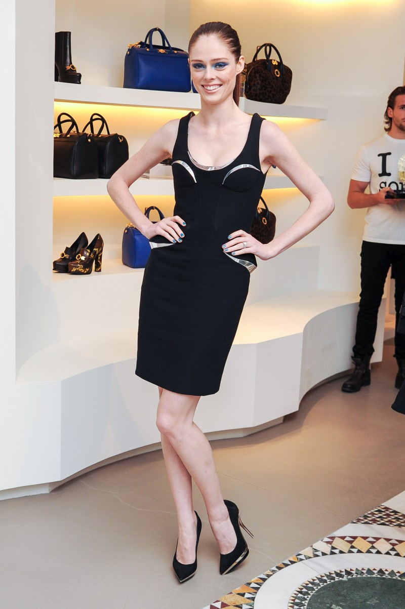 versace2 Doutzen Kroes, Lady Gaga, Coco Rocha and Others Step Out for Versaces SoHo Store Opening